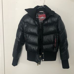 tna black puffer jacket